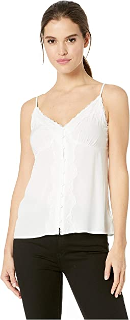 Lace Trim Button Cami
