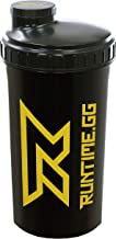 Runtime Protein Shaker Sport Bottle for Nutrition and Fitness 700ml Capacity with Sieve – 100 Tight BPA-Free – incl Measuring Scale – Transparent Black Yellow Estimated Price : £ 6,99