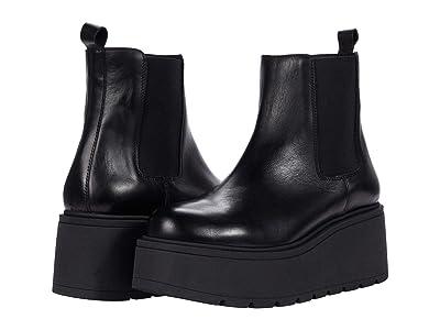 Steve Madden Tiber Bootie (Black Leather) Women