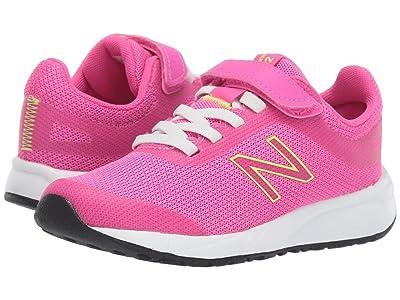 New Balance Kids 455v2 (Little Kid/Big Kid) (Peony/Bleached Lime Glo) Girls Shoes
