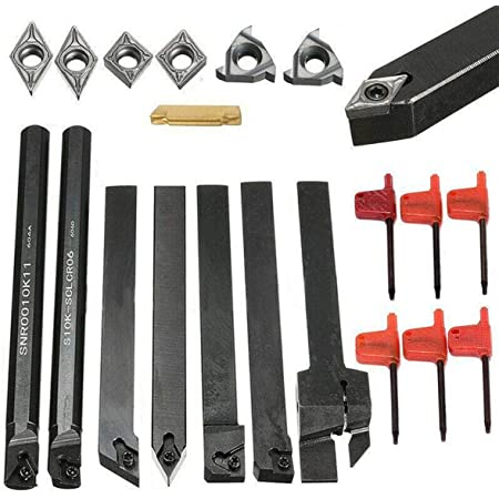 perfk Schaftdrehmaschine Bohrstange Drehen Werkzeughalter Drehmei/ßel mit Wendeplatte und WNMG0804 Insert Drehwerkzeuge