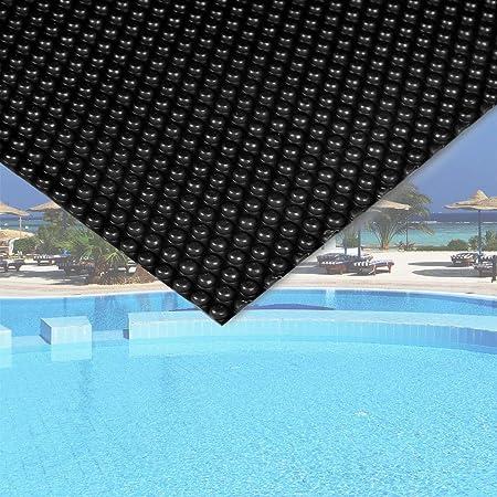WilTec Cubierta Solar Piscina Negro isotérmica de Burbujas Rectangular 5x8m Cobertor Protección
