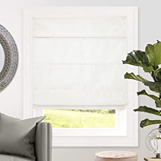 CHICOLOGY Cordless Roman Shades Blackout Lining Cascade Window Blind, 33