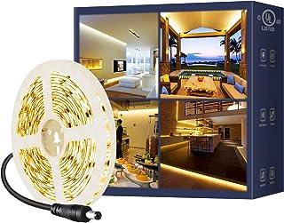 Sponsored Ad - LED Strip Lights UL-Listed,16.4ft 6000Lm SMD Led Rope Lights,3000K,120LEDs/M,Flexible Tape Light,DC12V LED ...
