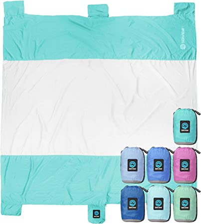 WildHorn Outfitters Seaview 180° Sand Free Oversized Beach Blanket