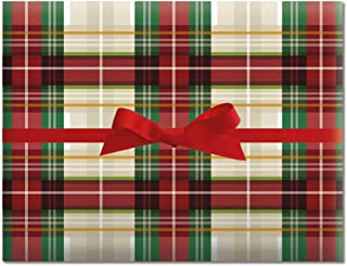 Classic Plaid Jumbo Rolled Gift Wrap- 67 sq. ft
