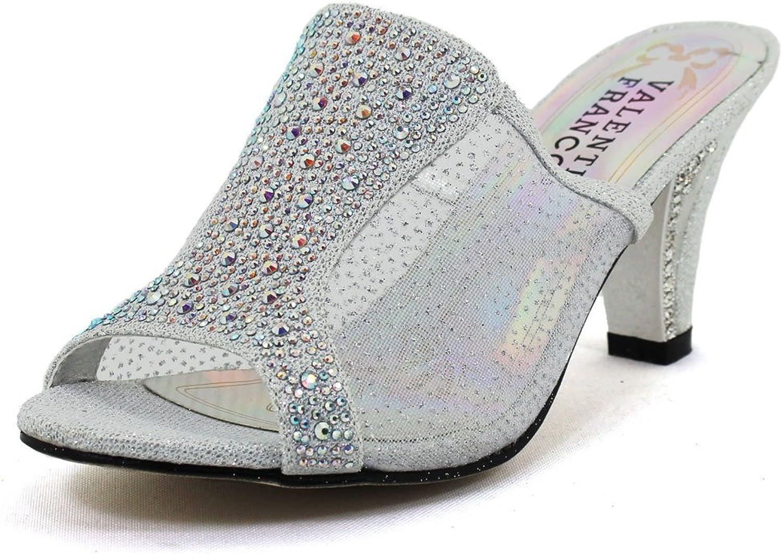 Pierre Dumas Women's Eyelyn 9 Mesh Slide Silver Synthetic Sandals