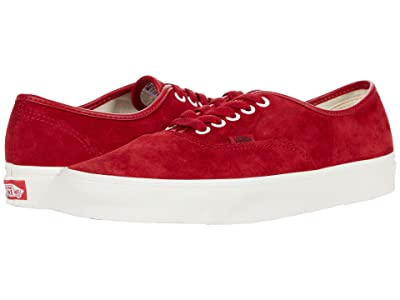 Vans Authentictm ((Pig Suede) Chili Pepper/True White) Skate Shoes