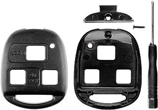 KeylessOption Keyless Entry Remote Key Blade Fob Shell Case Cover Repair for Toyota Lexus HYQ12BBT HYQ1512V