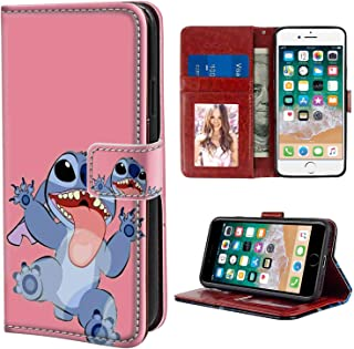 Wallet Case Compatible for iPhone 8 (2017) and iPhone 7 (2016) 4.7in Disney Wallpaper Lilo Y Stitch Tumblr Cartoon