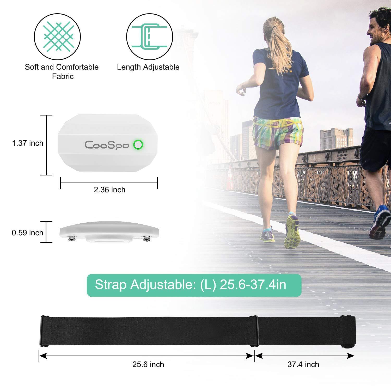 CooSpo - Pulsómetro con Bluetooth y ant+, sensor HRM, compatible con Wahoo Polar Runtastic Pro Tomtom Edomondo para iOS, Android: Amazon.es: Deportes y aire libre