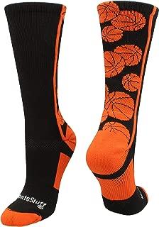 Crazy Basketball Logo Crew Socks (Multiple Colors)
