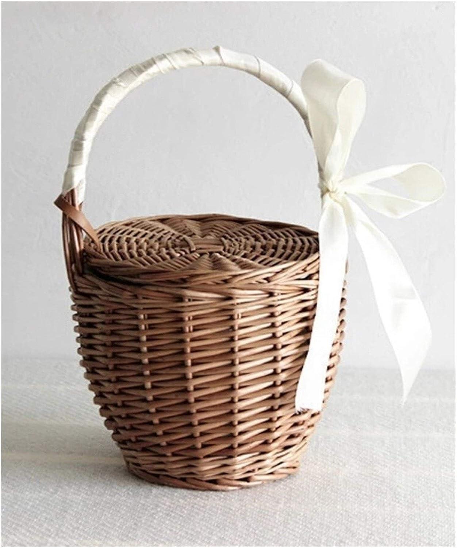 Rapid rise Tlwangl Storage Basket Wicker Wicke Woven Picnic Ranking TOP12 Handmade