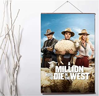 Movie A Million Ways to Die in the West Art Print canvas Poster Canvas-24x36in Geen Frame