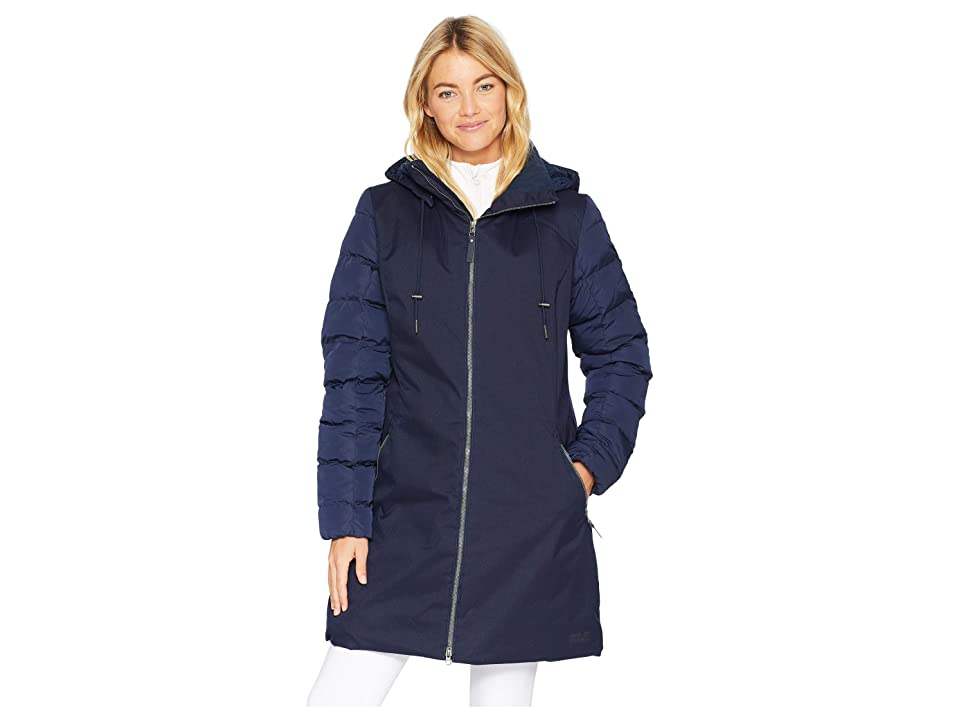 Jack Wolfskin Temple Hill Down Coat (Midnight Blue) Women