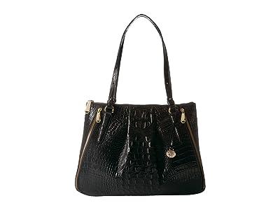 Brahmin Melbourne Adina Bag (Black) Handbags
