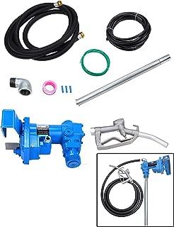 BLACKHORSE-RACING Fuel Transfer Pump 12 V DC 20 GPM DC Gas Diesel Kerosene w/Nozzle Kit Gasoline Explosion Proof Pump Electric Gasoline Pump Fuel Delivery