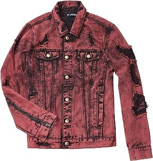 mens distressed black denim jacket