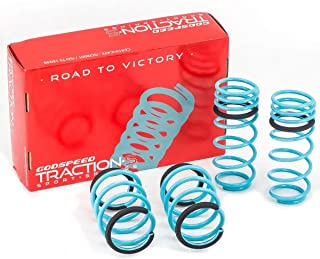 Godspeed LS-TS-HI-0006 Traction-S Performance Lowering Springs, Reduce Body Roll, Improved Handling, Set of 4