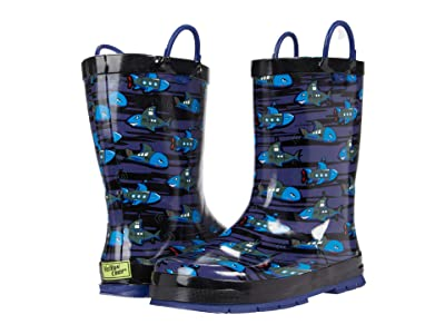Western Chief Kids Shark Sub Rain Boots (Toddler/Little Kid/Big Kid) (Blue) Boys Shoes