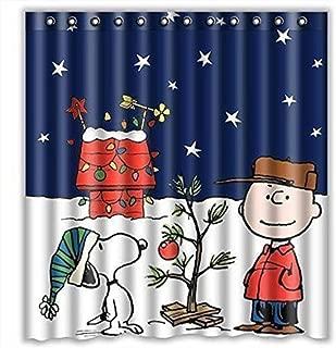 KESEELY Halloween Christmas Shower Curtain Printed Waterproof Curtain,Bathroom Shower Curtain with 12 Hooks