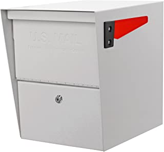 Mail Boss 7207 Package Master Curbside Locking Security Mailbox, White