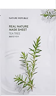 Nature Republic Real Nature Mask Sheet TEA TREE 10pc SET Daily Mask Korea
