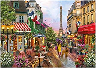 Puzzles - High Quality Collection Jigsaw Puzzle - Streets Of Paris - 300/500/1000 Pieces - Wooden Toy Unique Gift Home Dec...
