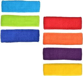 Cotton Sports Basketball Headband/Sweatband Head Sweat Band/Brace (Pack of 7)