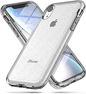 iPhone XR case, LABILUS (Glitter Series) Hybrid Shining & Hard PC Back Protective Cover Case for Girls Women, Compatible with iPhone XR (2018) - Clear