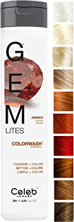 Celeb Luxury Gem Lites Colorwash: Color Depositing Shampoo, Stops Fade, Cleanse + Color, Sulfate-Free, Cruelty-Free, 100% Vegan