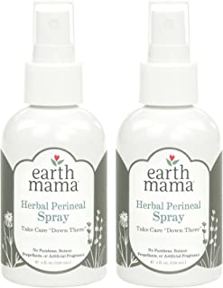 Herbal Perineal Spray by Earth Mama   Safe for Pregnancy and Postpartum, Natural Cooling Spray For After Birth, Benzocaine and Butane-Free 4-Fluid Ounce (2-Pack)