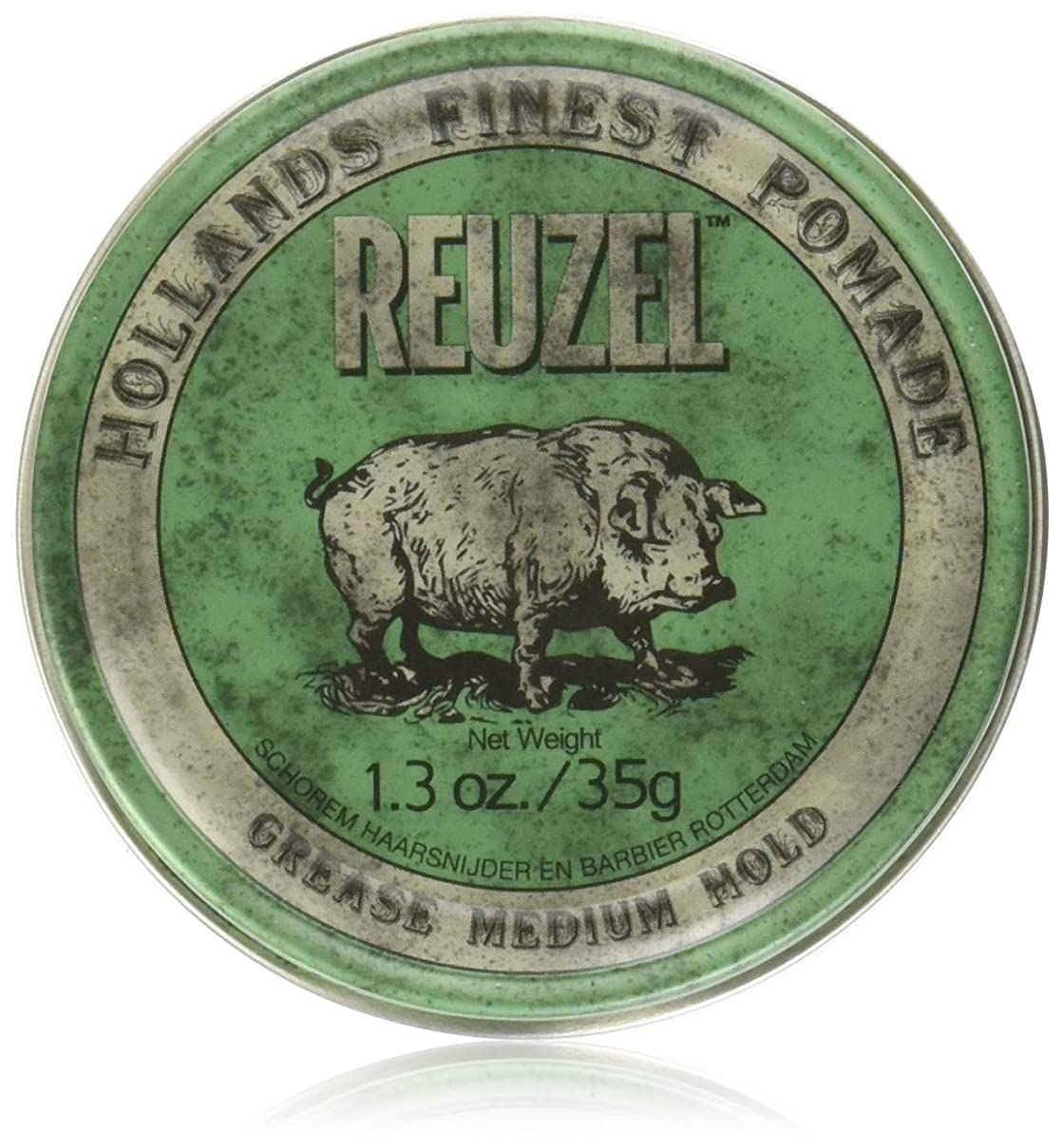 打たれたトラックギャザー敵意REUZEL Grease Hold Hair Styling Pomade Piglet Wax/Gel, Medium, Green, 1.3 oz, 35g by REUZEL