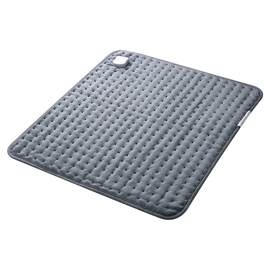 MaxKare Electric Heating Pad with Auto Shut Off, Large Heat Pad for Back Pain, 5 Temperature Levels, Soft Flannel for Muscle Pain Relief on Back, Shoulders, Neck (20 x 24 inches)