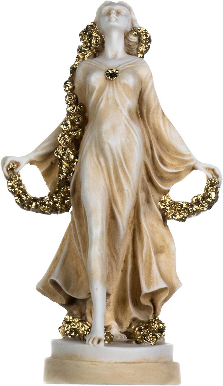 BeautifulGreekStatues Flora Goddess Golden Maiden Fl Max 41% OFF Blossoms of Trust