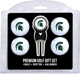 Team Golf NCAA Golf Balls (4 Count) & Divot Tool with Removable Double-Sided Magnetic Marker