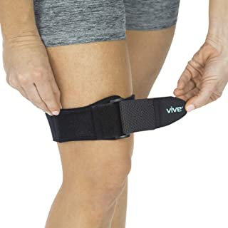 Vive IT Band Strap - Iliotibial Band Compression Wrap - Outside of Knee Pain, Hip, Thigh & ITB Syndrome Support - Neoprene Brace for Running and Exercise - Athletic Stabilizer for Men, Women