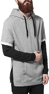Urban Classics Kapuzenpulli Short Sleeve Side Zipped Hoody Felpa Uomo