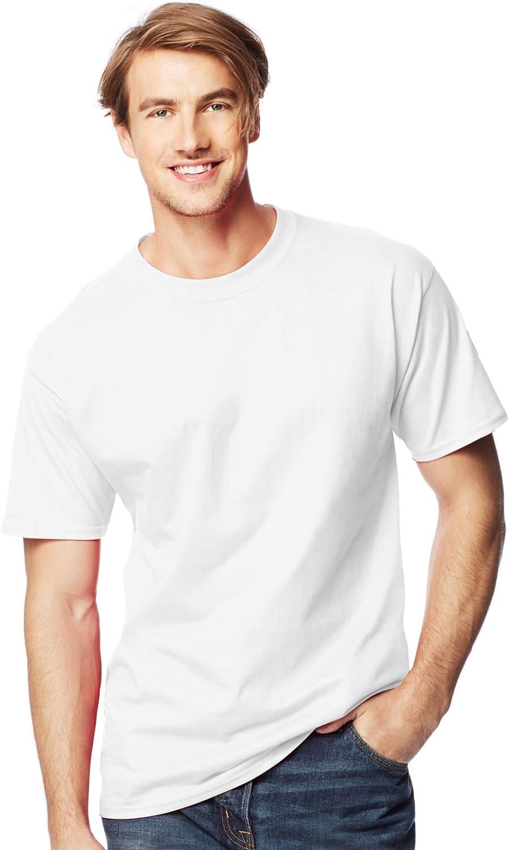 Hanes Men's Lay Flat Collar Tall Beefy T-Shirt