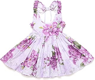 Áo quần dành cho bé gái – Floral Little Girls Dress Easter Casual Summer Toddler Sundress for Party