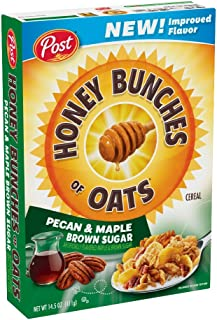 Post Honey Bunches of Oats Pecan & Maple Brown Sugar Breakfast Cereal, 14.5 Ounce (Pack of 12)