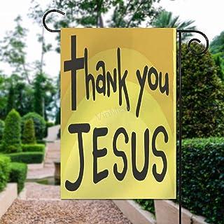 "VinMea Home Garden Flag Thank You Jesus American Decorative Flag Double Sided Polyester Outdoor Decor Flag 28"" X 40"""