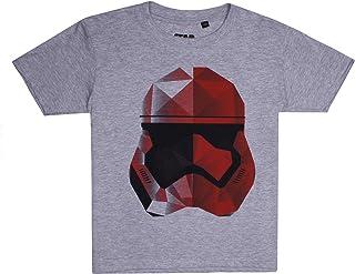 STAR WARS Boy's Storm GEO Trooper T-Shirt, Grey (Grey Heather SPO)