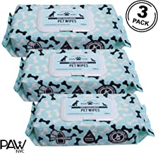 PAW NYC Grooming Cleaning Wipes for Dogs and Cats Combo Value Pack, 3 Pack Combo, 100 Wipes Per Pack