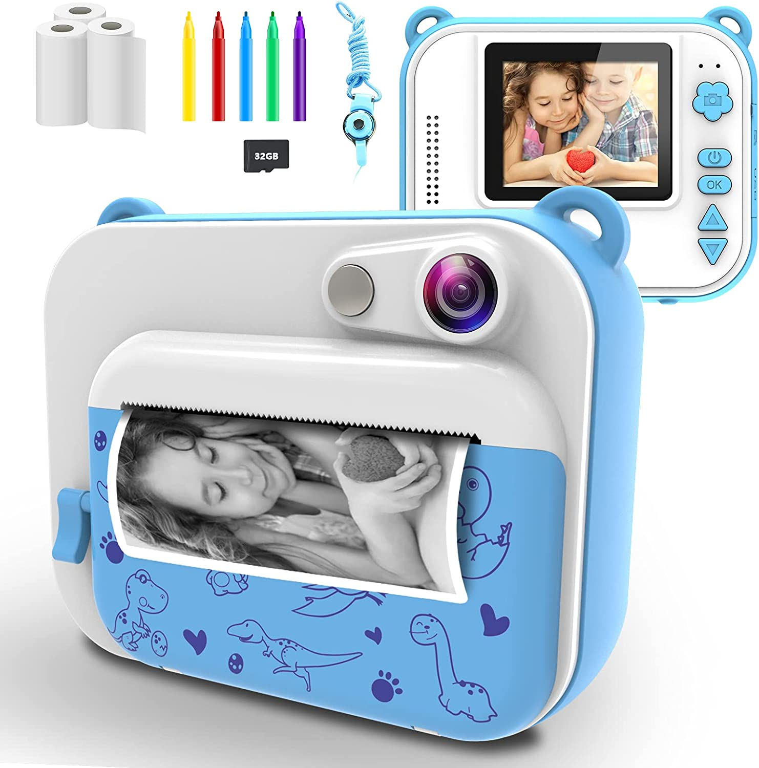 USHINING Instant Print Camera Digital for 12MP Luxury Cheap super special price goods Kids