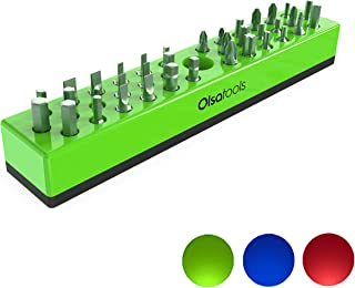 Olsa Tools Hex Bit Organizer with Magnetic Base | Premium Quality Hex Bit Holder for Your Specialty, Drill or Tamper Bits ...