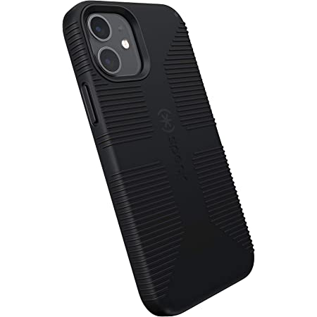 Speck Products CandyShell Pro Grip iPhone 12, iPhone 12 Pro Case, Black/Black (137602-1050)