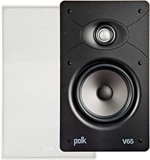 Polk Audio V65 High Performance Vanishing in Wall Speaker in White | Exclusive Lightweight Dynamic Balance (Each) (V65-WHITE)