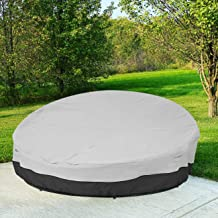 """90"""" Heavy Duty 420D Waterproof Daybed Cover Outdoor Round Canopy Day Bed Sofa Cover Patio Furniture Cover UV Weather Resis..."""