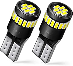 AUXITO 194 LED Bulbs 168 175 2825 W5W T10 24-SMD 3014 Chipsets 6000K White for Car Dome Map Door Courtesy License Plate Lights Pack of 2